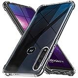 Ferilinso Hülle für Moto G8 Play/Motorola One Macro Hülle, [Version mit Vier Ecken verstärken] [Kamerapflegeschutz] Stoßfeste, weiche TPU-Silikonhülle aus Gummi (Transparent)