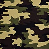 MAGAM-Stoffe Camouflage French Terry Sweat Stoff Oeko-Tex