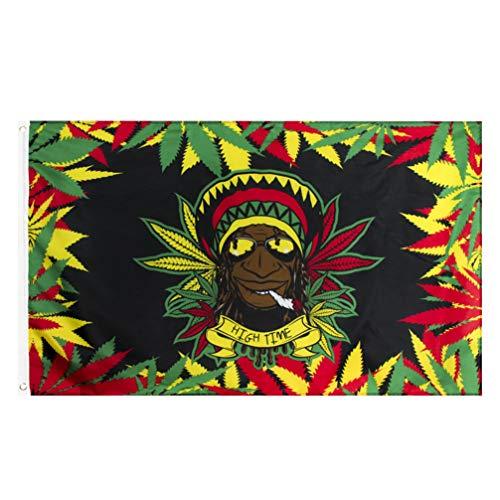 Amosfun Indianer Rauchen Banner Wandbehang Wandteppich Wandkunst Hintergrund für Outdoor-Urlaub Party Garten
