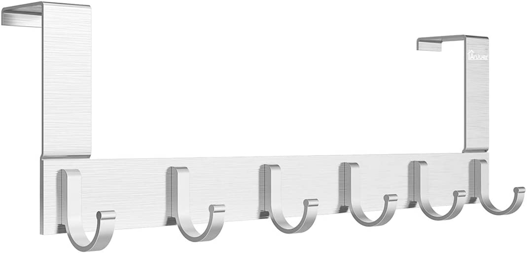 Door Hooks Hanger Rack Anjuer Utility Aluminum Holder Organizer trust Large discharge sale