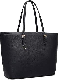Black Tote Purses and Handbags for Women, COOFIT Tote Handbags Women Purses Shoulder Bag Pocketbooks Purses
