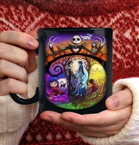 The Nightmare Before Christmas Jack & Sally Coffee Mug - Coffee Cup - Funny Gift
