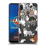 Head Case Designs Pastor Australiano Patrones de Raza de Perro 3 Carcasa de Gel de Silicona Compatible con Motorola Moto E6 Plus