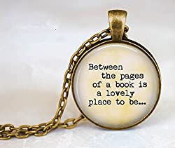 Unique Gifts for Book Lovers-Book Necklace