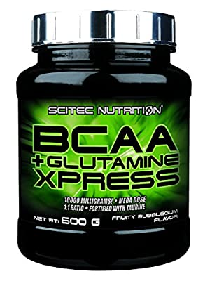 Scitec Nutrition BCAA + Glutamine Xpress Powder - 600g, Fruity Bubblegum by Scitec Nutrition