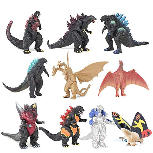 Fantastic Deal! YUBINK 10Pcs/ Set Mechagodzilla Gigan Anguirus Action Figure PVC Gift Toys (as Shown)