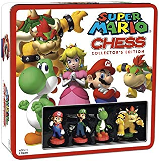 SUPER MARIO Chess Set | 32 Custom Scuplt Chesspiece Including Iconic Nintendo Characters..
