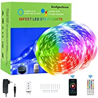 65.6-Feet HEDYNSHINE RGB Color Changing Smart LED Strip Lights with Remote
