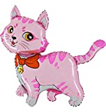 Ballonim Katze pink ca. 80cm Luftballons Folienballon Party DekorationGeburtstag
