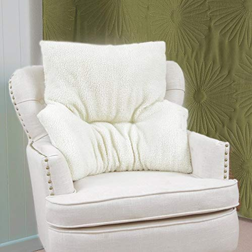 Fleece Armchair Backrest | Orthopedically Shaped to Cradle your Lumbar Region | Support Aid Cushion...