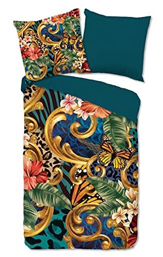 Pure Ropa de cama de microfibra, 2 piezas, funda nórdica de 135 x 200 cm, funda de almohada de 80 x 80 cm, Lieke 2370.99.08 Multi