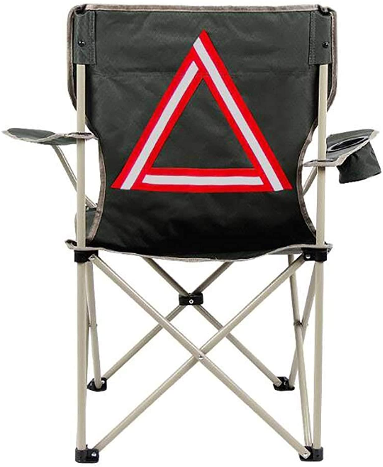 Outdoor Portable Camping Chair, Compact Lightweight Folding Chair with Armrest Beach Fishing Picnics BBQ Heavy Burden,B