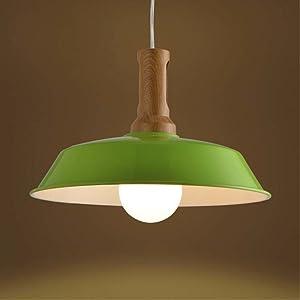 Lámparas colgantes Baycheer, lámpara industrial, luces colgantes, luces de techo, lámpara de araña para mesa del comedor, restaurante, sótano, loft, altura regulable, verde, E27 40.0W 220.00V