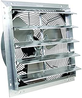 VES Exhaust Fan, Shutter Fan, Box Fan, with 9 Foot Cord 3 Speed for Indoor or Outdoor Ventilation (20 Inches)