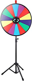 "WinSpin 24"" Color Prize Wheel Fortune w Folding Tripod Floor Stand Carnival Spinnig Game"