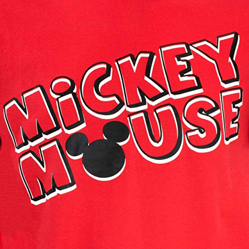 Disney Pijama para Hombre Mickey Mouse Rojo Size Large