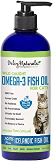 Wild Caught Fish Oil for Cats - Omega 3-6-9, GMO Free - Reduces Shedding, Supports Skin, Coat, Joints, Heart, Brain, Immun...