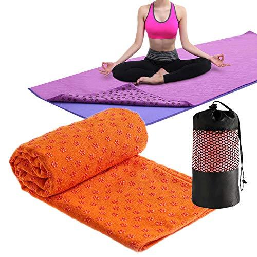 OVsler Yoga Handtuch rutschfest Yoga Handtuch Mikrofaser HandtüCher Fitness Handtuch Yoga Handtuch Antirutsch Microfaser HandtüCher Yogatuch HandtüCher Mikrofaser Yogatuch rutschfest orange,-