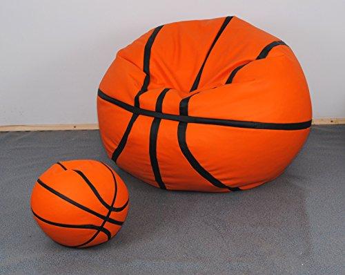 Set Puff Puf Sitzsack Hocker Sitzsack aus Kunstleder simipelle. Basketball