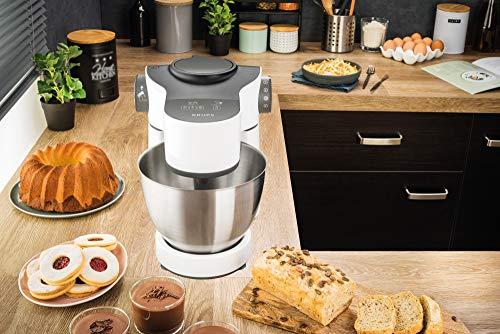 Krups KA3121 Master Perfect Küchenmaschine (1000 Watt, Gesamtvolumen: 4 Liter, inkl.: Back-Set, Aufsatz Schnitzelwerk mit Reibekucheneinsatz) weiß - 5