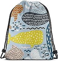 日本のこけしアート巾着バックパックジムサックシンチバッグストリングバッグ-3