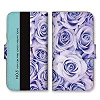 AQUOS zero 5G basic (au DX SHG02 / SoftBank A002SH) 手帳型 スマホ ケース カバー バラ ブルー 写真 スマホケース スマホカバー AQUOSzero5Gbasic アクオスゼロ5Gベーシック 17101
