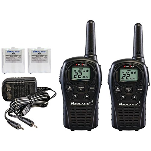 Midland GX22VP 32-Mile GMRS Radio Pair Pack with Charger and Rechargeable Batteries