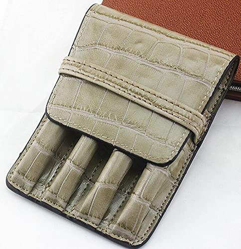Estuche de cuero hecho a mano para lápices, bolsa de manga estilográfica, bolsa vintage para 4 bolígrafos, bolígrafo y caja de papelería (color: U)