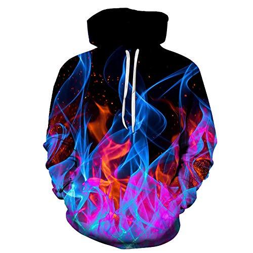 Sudadera a la moda con capucha estampada 3D sudaderas con capucha para hombre impresión personalidad suéter suave cálido diseño suelto uso diario Q-090 Stile 06 3XL