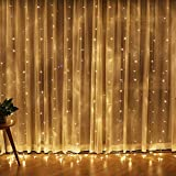 Twinkle Star 300 LED Window Curtain String Light for Christmas Wedding Party Home Garden Bedroom...