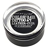 Maybelline New York Eyestudio ColorTattoo Metal 24HR Cream Gel Eyeshadow, Dramatic Black, 0.14 Ounce (1 Count)