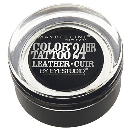 Maybelline New York Eyestudio ColorTattoo Metal 24HR Cream Gel Eyeshadow, Dramatic Black, 0.14 Ounce...