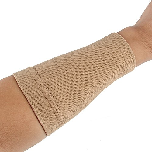 Beauty7 Cubierta del Tatuaje Tatuajes Unisex Lycra Elástico de la Fibra de Poliéster Amina Proteger la Muñeca Manos Ropa y Uniformes de Trabajo Seguridad Color Negro Carne Piel M L (M, Piel)