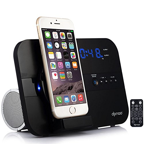 dpnao 5 in 1 iPhone Charger Dock Station with Alarm