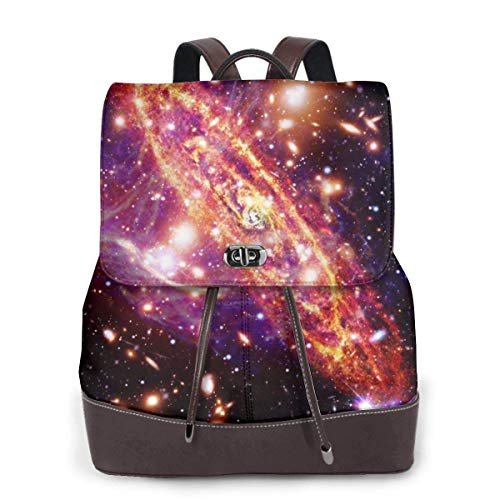 Yuanmeiju Womens Fashion Backpack Marvellous Alien Planet Shoulder Bookbag Leather Travel Bag Girls