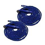 Helo Flexibler Gartenschlauch Flexischlauch Schlauch 2 x blau 7,5m