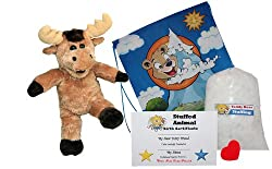 "Make Your Own Stuffed Animal ""Mumphry the Moose"" - No Sew - Kit With Cute Backpack!"