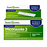 Amazon Basic Care Miconazole 3, Miconazole Nitrate Vaginal Cream (4%), 3-Day Treatment for Vaginal Yeast Infection
