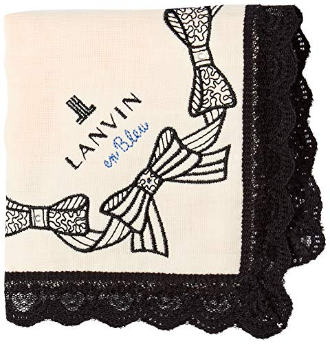 [ランバンオンブルー] ハンカチ レディース 刺繍 ミニガーゼハンカチ 17308014 17308014C ベージュ 23cmx23cm