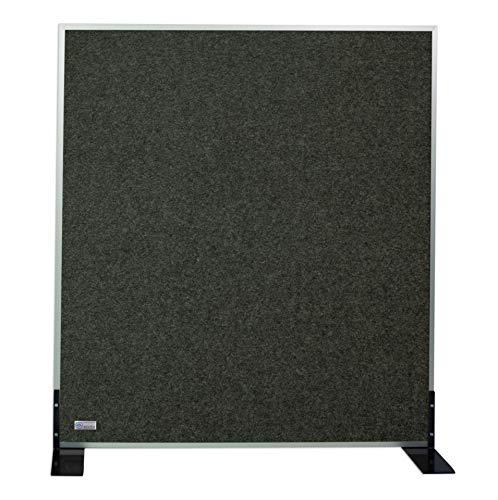 Horch Akustik Stellwand, Pinnwand, mit Aluminiumrahmen, Schallabsorber, Trennwand, Büroausstattung, Graphitgrau 1,1m x 1,8m