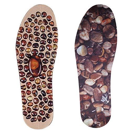 LAANCOO Adoquines Plantillas del Masaje de acupresión Terapia del cojín del pie Mejora la circulación sanguínea reflexología del pie de la Plantilla de descompresión Hombres Mujeres L Masaje de pies