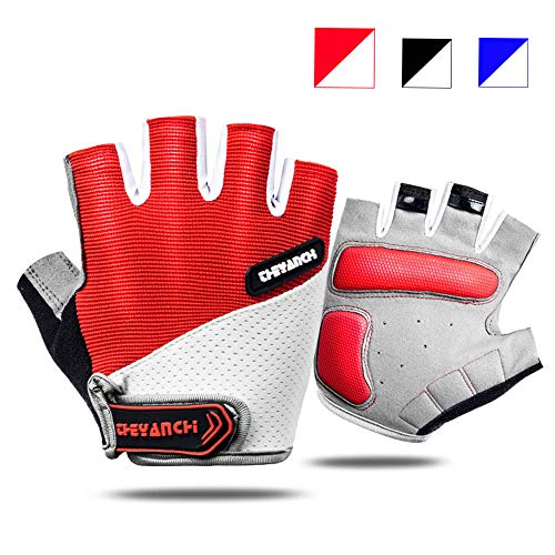Workout Gloves for Men Women, Weight Lifting Gloves, Lightweight & Non-Slip, Padded Exercise Gym Gloves for Cycling, Climbing, Rowing, Dumbbells, Cross Training