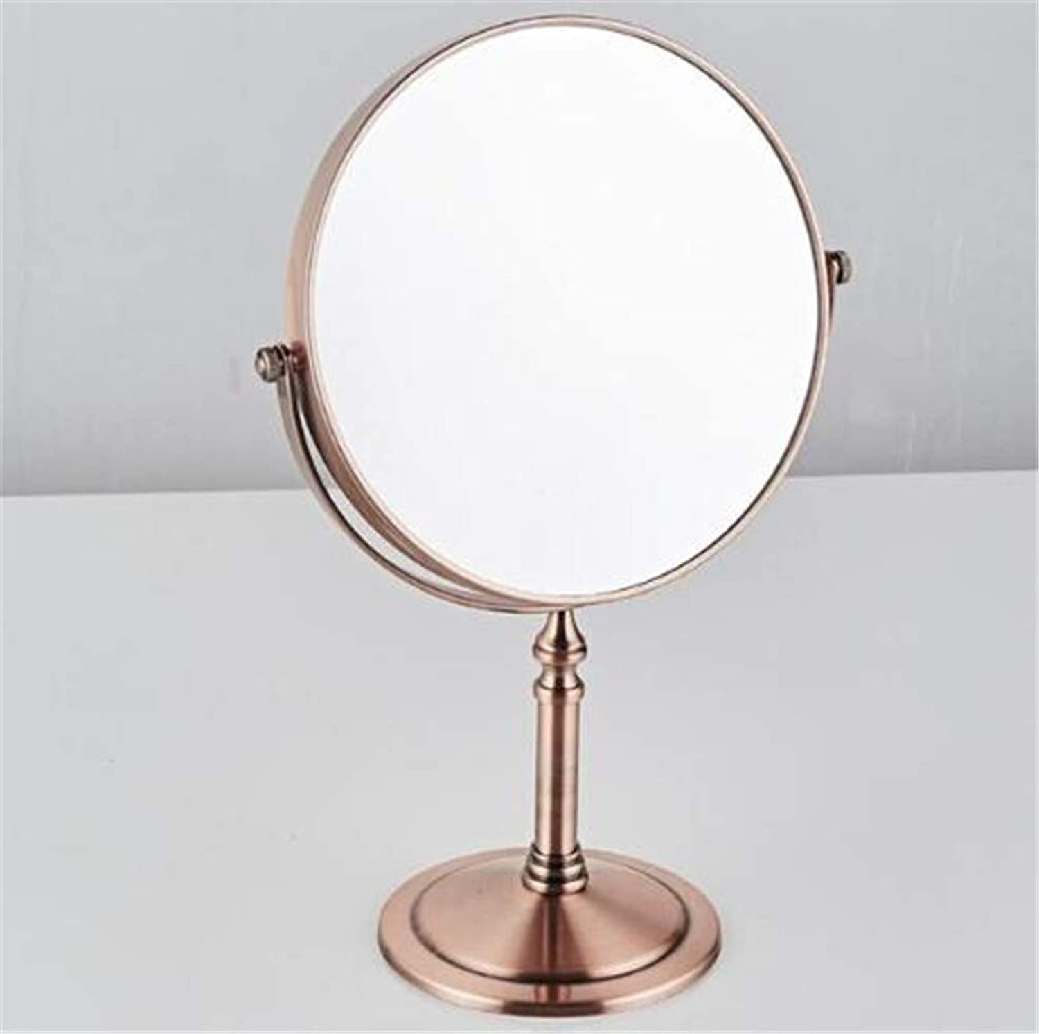 LUDSUY Antique Copper Arrival Makeup Mirror Professional Vanity Mirror Bathroom Accessories 360 redating Free Magnifier, B
