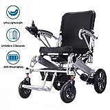 SPONSOKT Silla de ruedas eléctrica plegable y liviana, con batería de iones de litio de 20 Ah, silla de scooter motorizada plegable eléctrica ultra portátil para movilidad de persona
