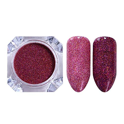 Poudre à ongles,Nail Shimmer Powder Shining Metal Mirror Effect Nail Chrome Pigment Dust Nail Art Decoration-19