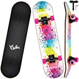 Skateboard Completo, Funxim Tabla de Skateboard 31 x 8 Pulga