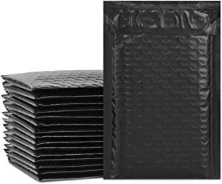 UCGOU 4x8 Inches Poly Bubble Mailers Self Seal Black Padded Envelopes Waterproof Envelopes Shipping Envelopes Bags Pack of 50