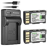 Kastar Battery (X2) & Slim USB Charger for JVC BN-VF808, BN-VF808U, BNVF808 and JVC Everio...