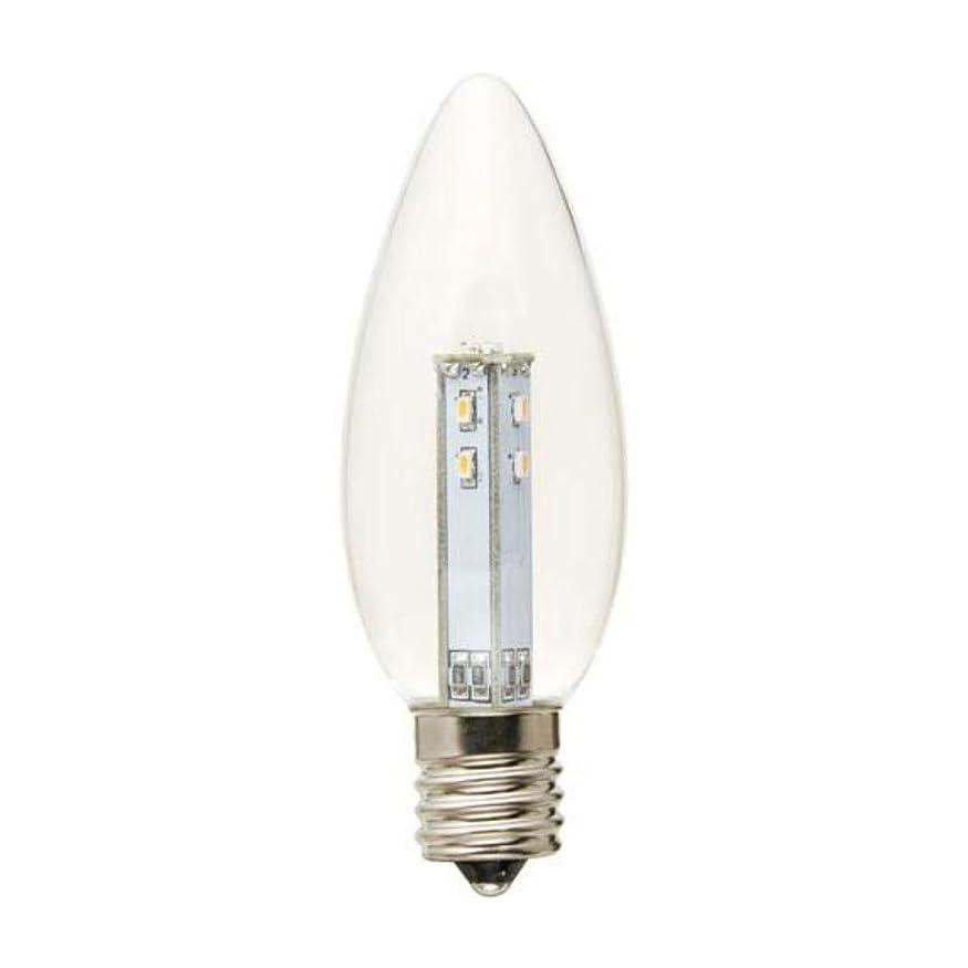 アーカイブ割り当てます拘束YAZAWA(ヤザワ) シャンデリア形LEDランプ 口金直径17mm  電球色相当 LDC1LG32E173
