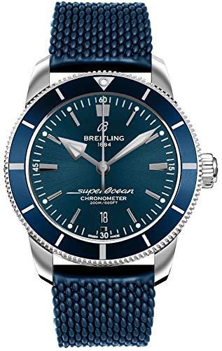 Breitling Superocean Heritage II B20 Automatische 44 Blauw Aero Klassieke Rubberen Band Horloge AB2030161C1S1